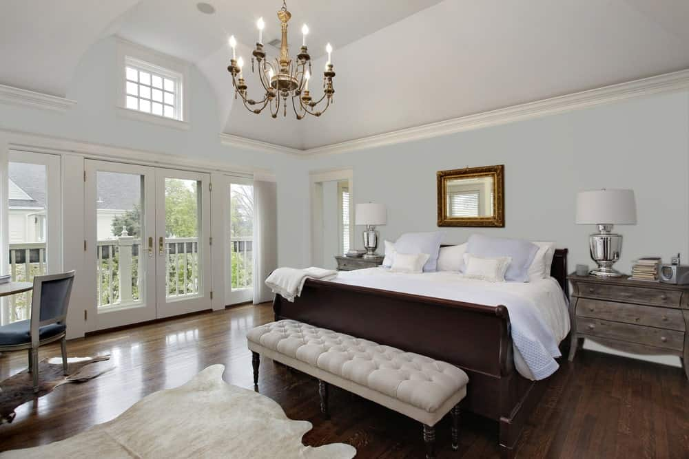 Gray Master Bedroom Interior - Pantone 429