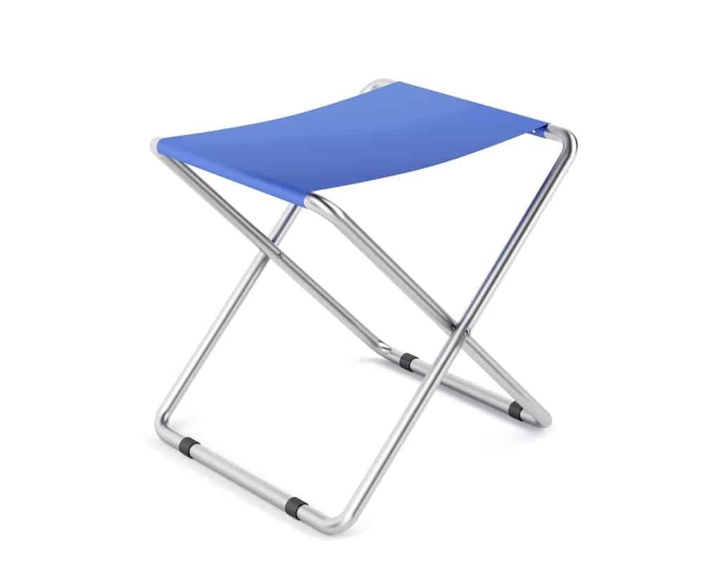 A Blue-Colored Mini Foldable Stool