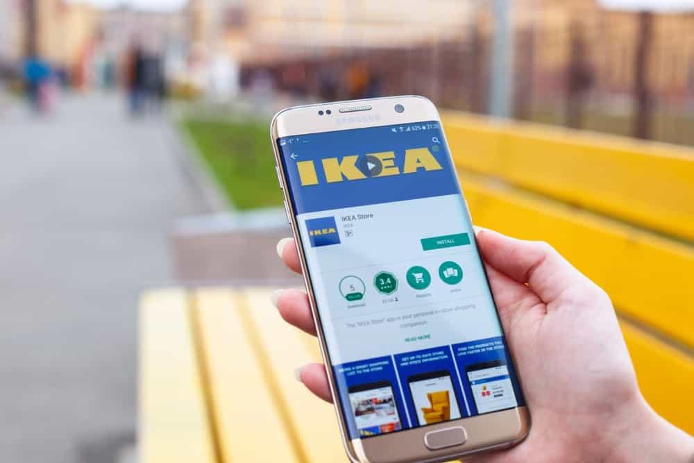 IKEA App on a Phone