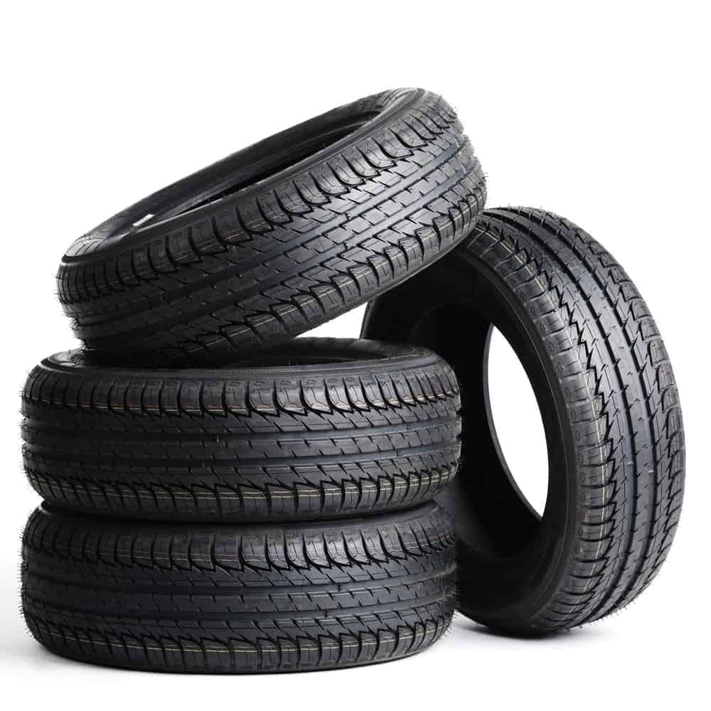 Four Black Radial Tires