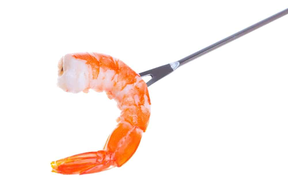 Shrimp on a Seafood Fork