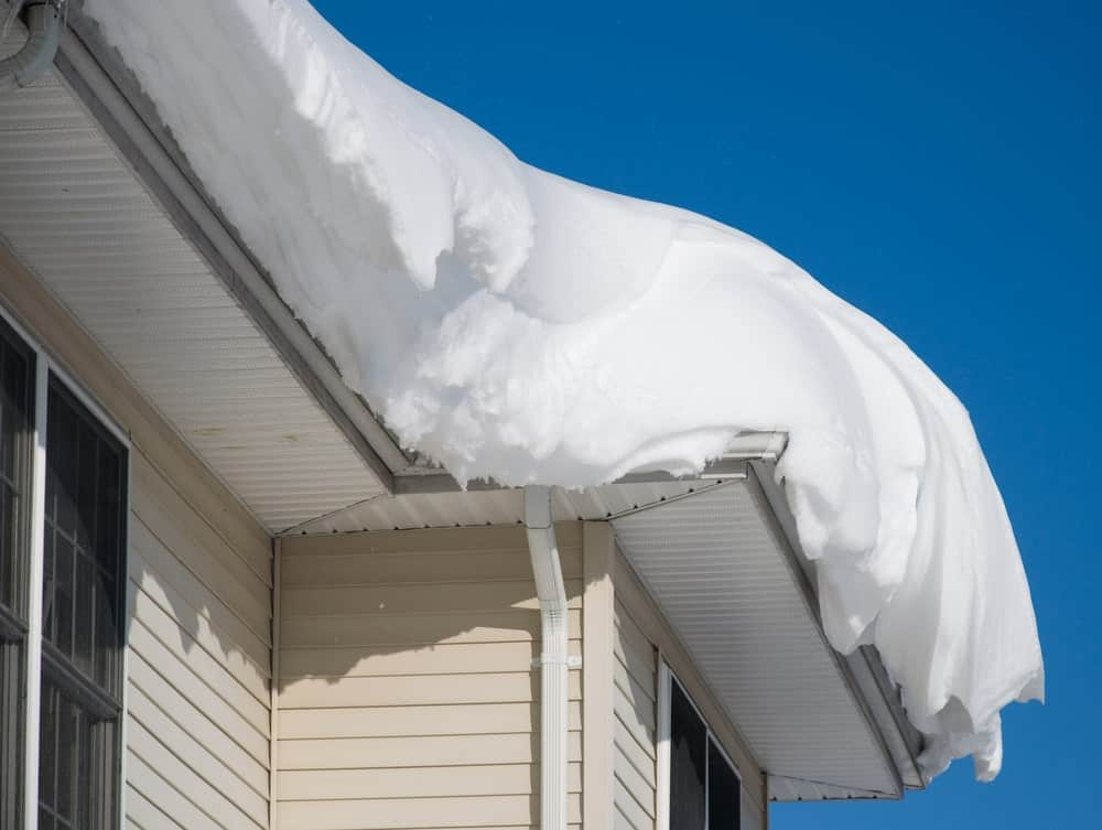 Sleet on the roof