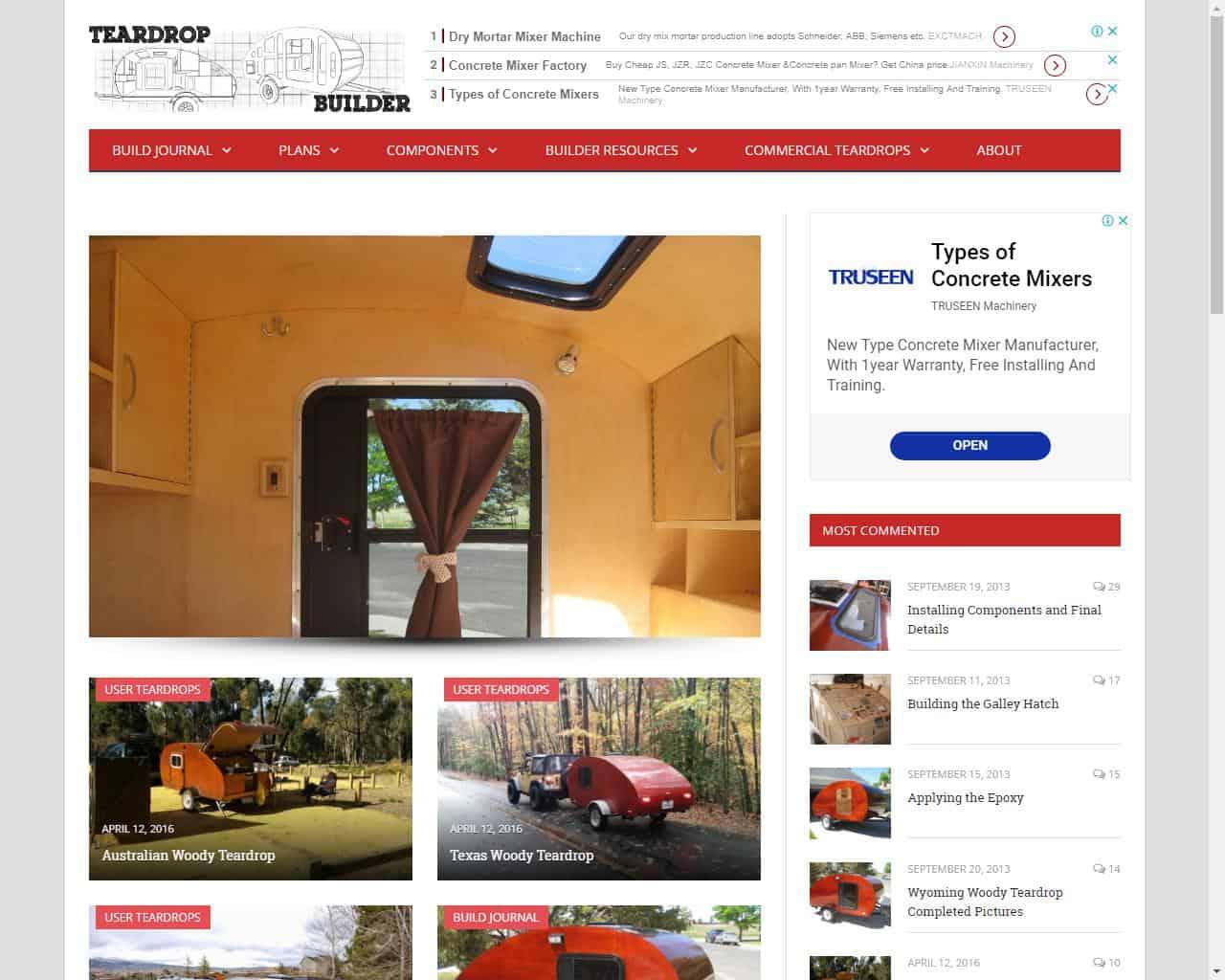 TeardropBuilder website