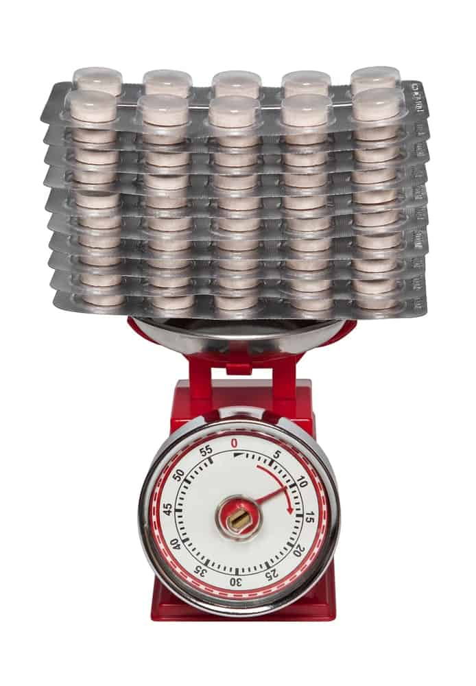 Red Top-Loading Dial Scale