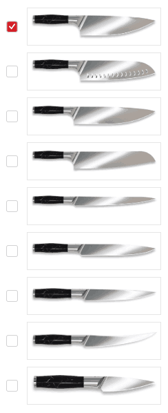 Types of knives by Craftstone Knives