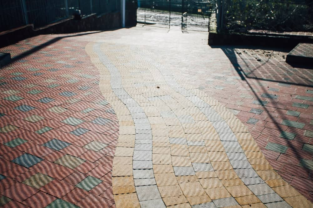 Brick pavers for hardscaping