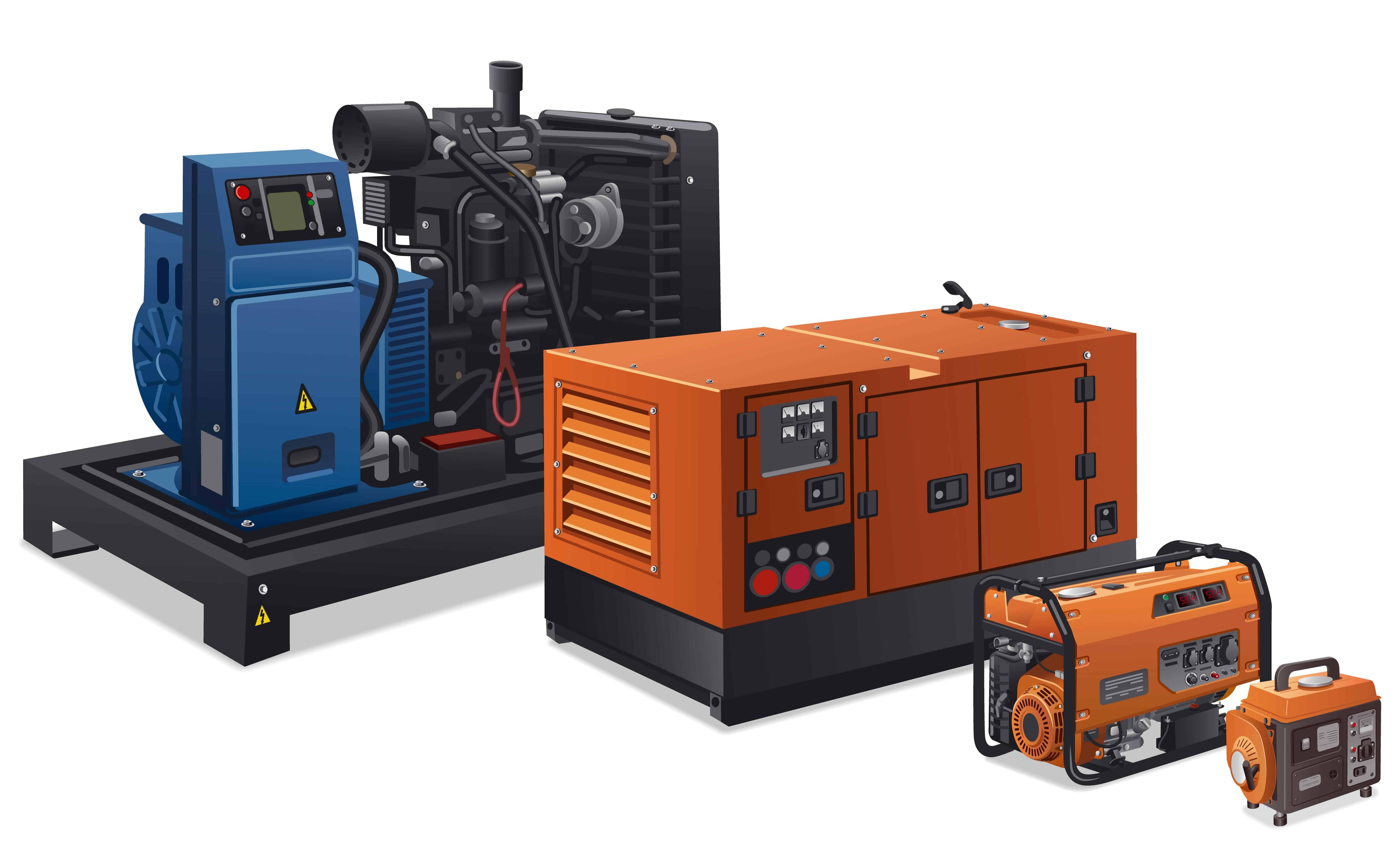 Different types of generators.