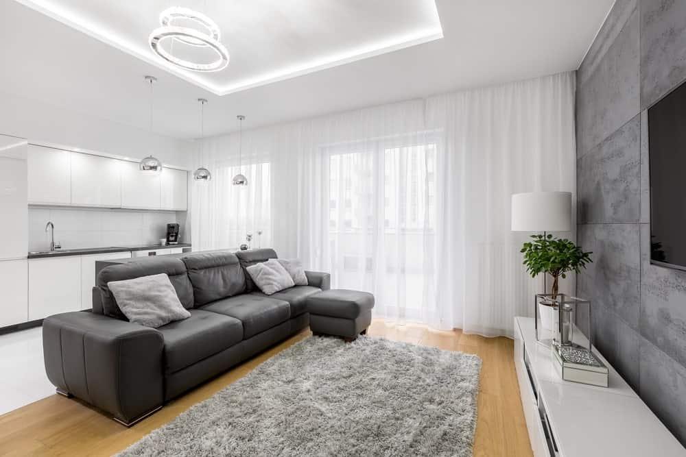 50 Amazing Gray Leather Sofa Ideas