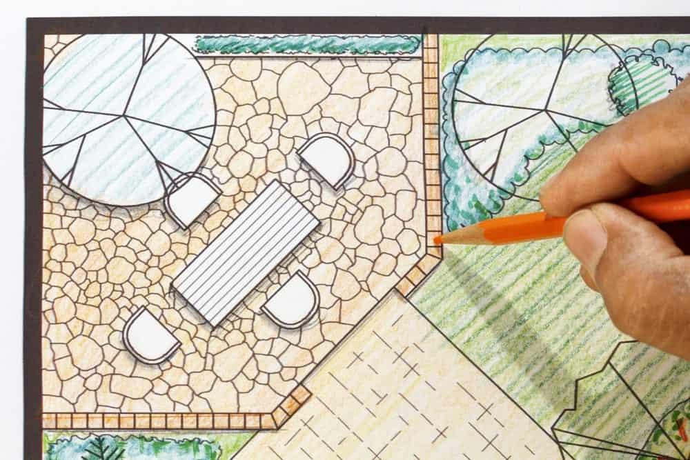 Landscape architect design for a garden.