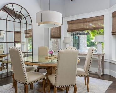 Luxury dining room with round dining room table