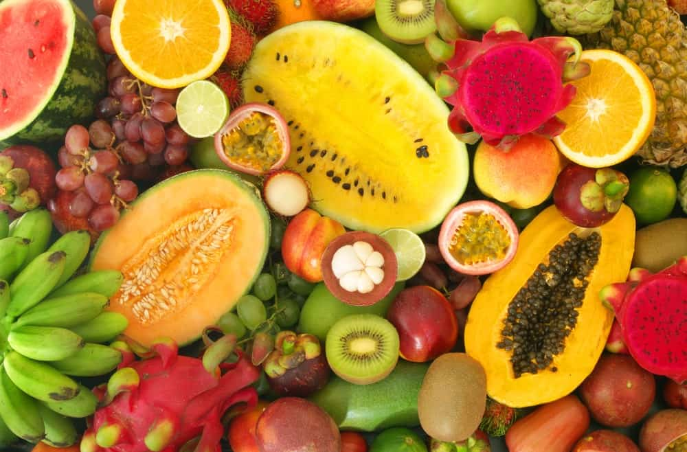 Colorful tropical fruits