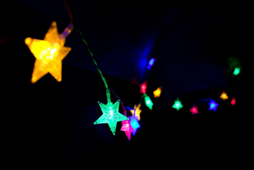 Twinkle Star LED String Lights In The Dark