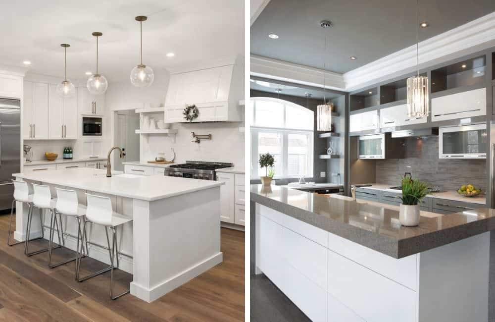 white vs dark kitchen photo comparison
