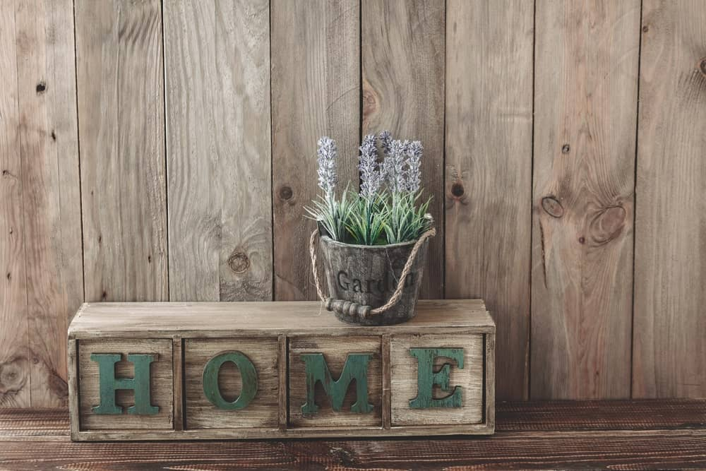 Wood decors with a wide wood plank background.