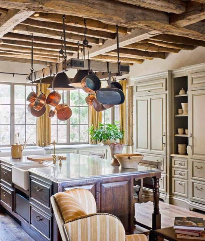 40 Kitchens with Hanging Pot Racks (PICTURES)