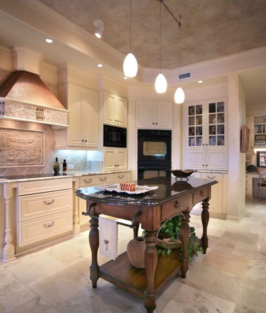 incredible white kitchen cabinets black appliances | 60 Fantastic Kitchens with Black Appliances (Photos)