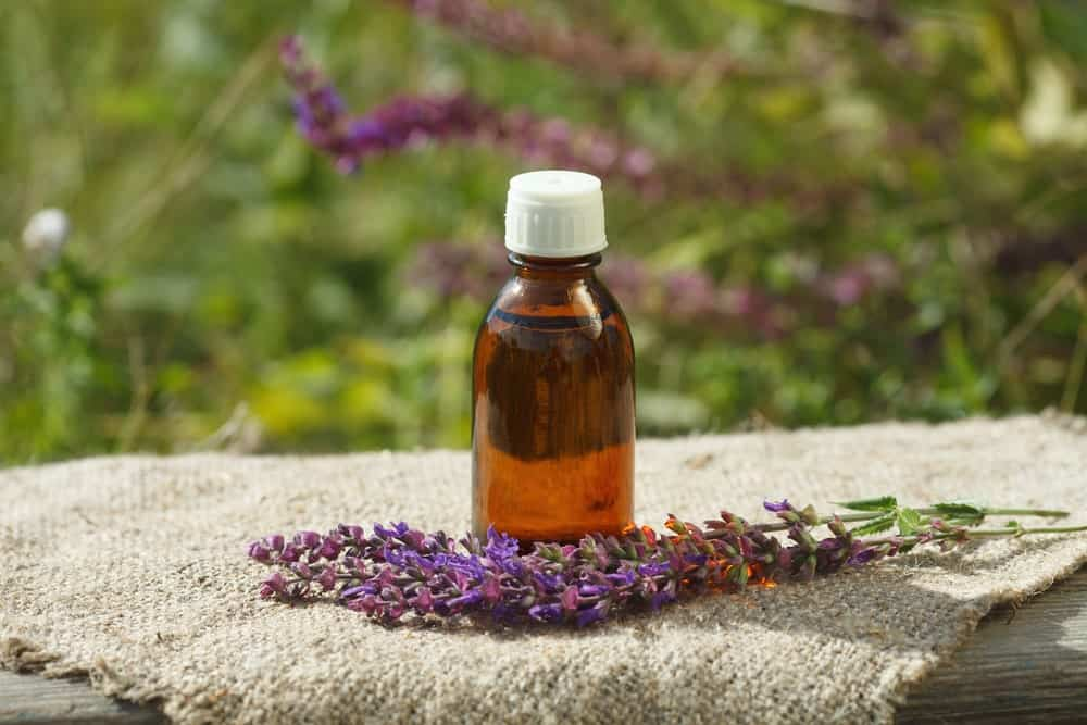 Clary Sage therapeutic oil in a bottle