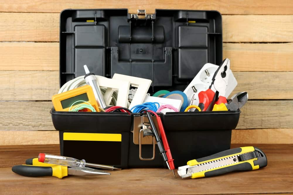 A toolbox filled with tools