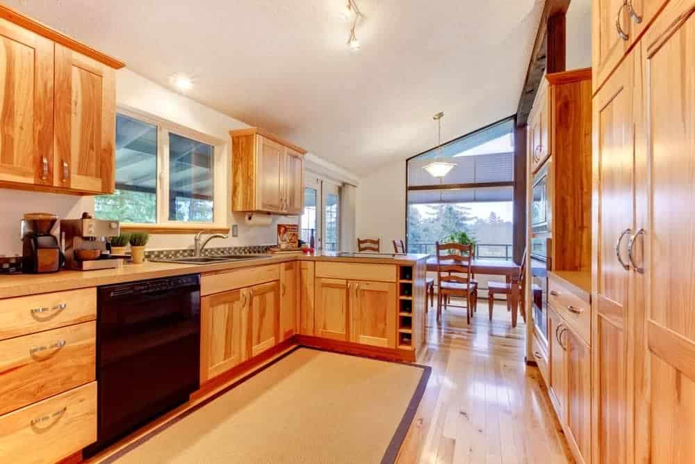 Acacia wood kitchen fixtures
