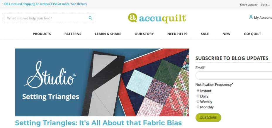 Accuquilt for quilters