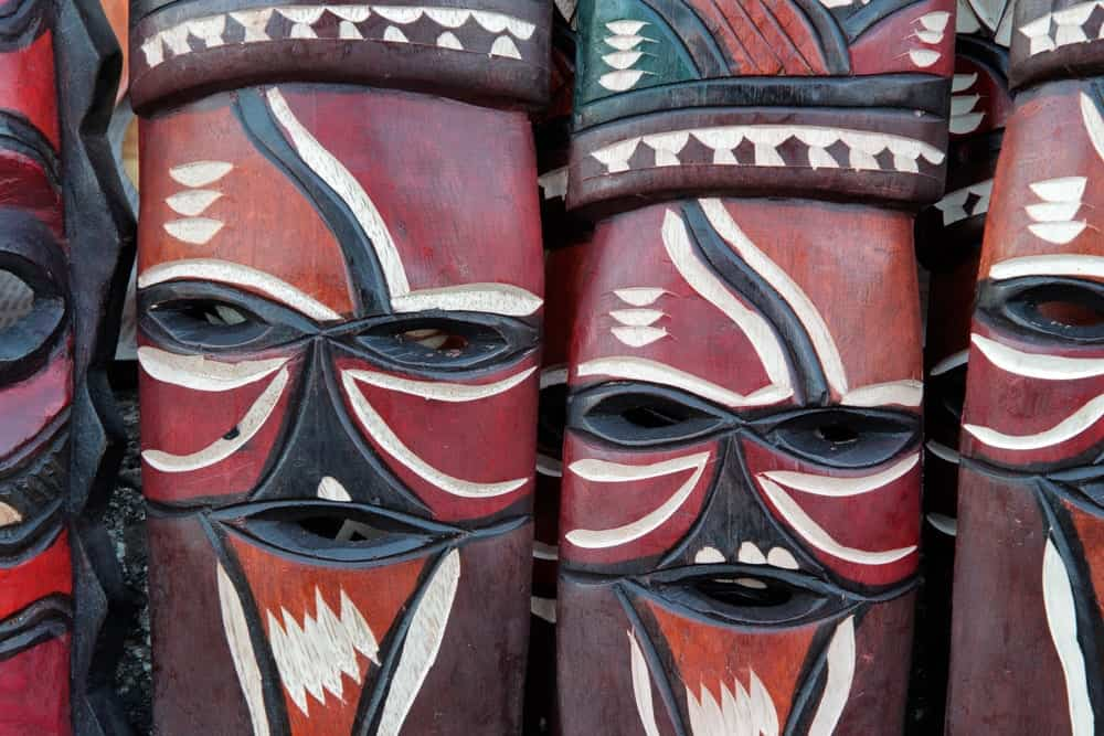 Hand-painted African masks