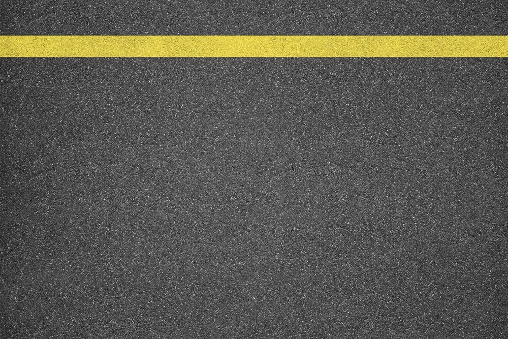 Road constructed of asphalt concrete