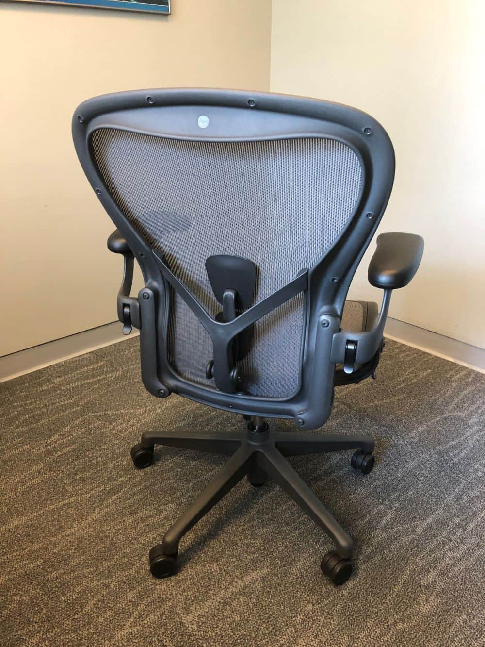 Back view of herman miller aeron chair