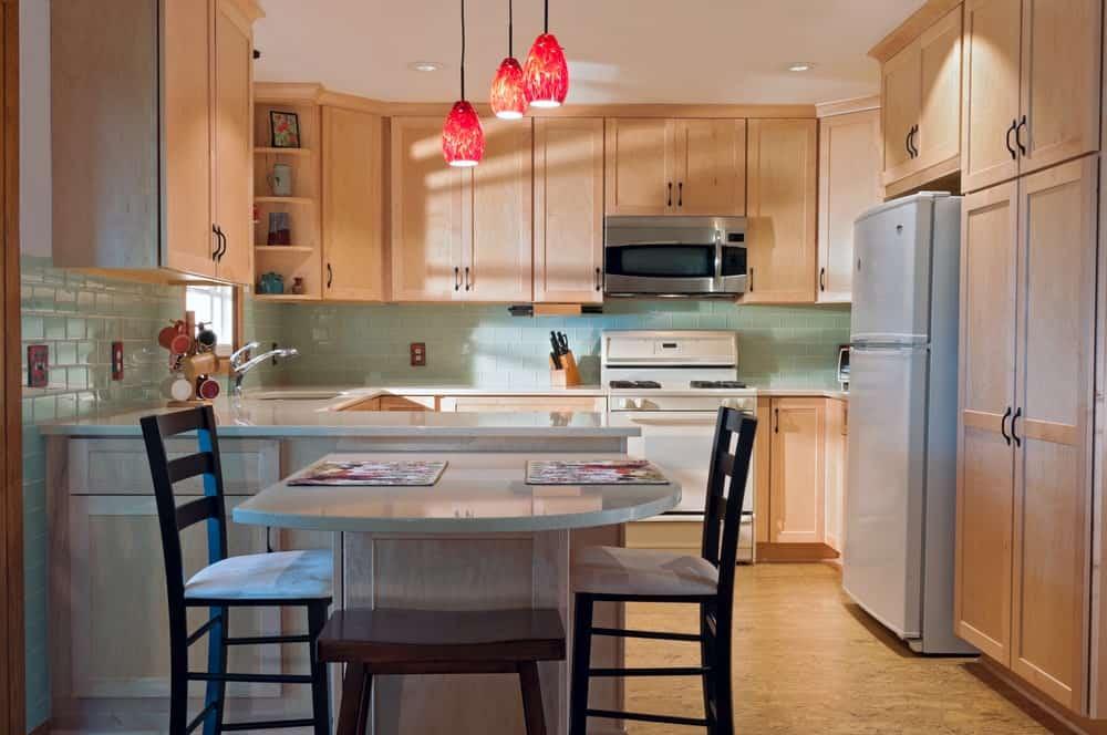Cork flooring in a kitchen