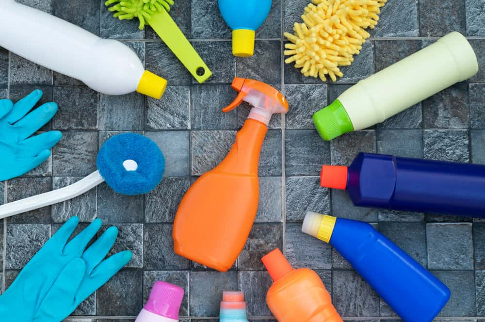 Cleaning products and sprays for stainless steel