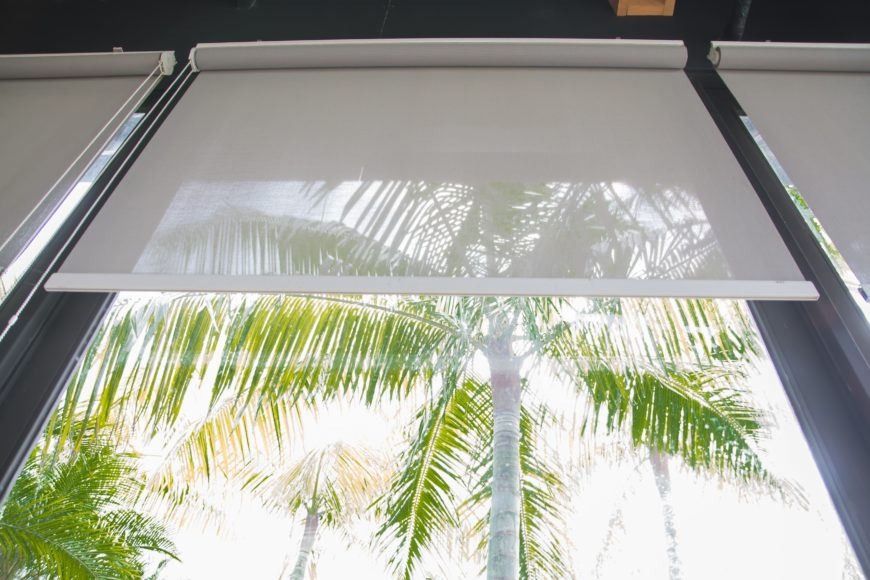 Clear Roller Blinds Sun Protection