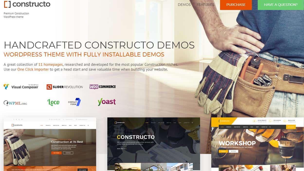 Constructo WordPress Theme