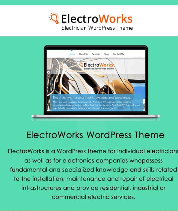 ElectroWorks Theme for Electrical Website
