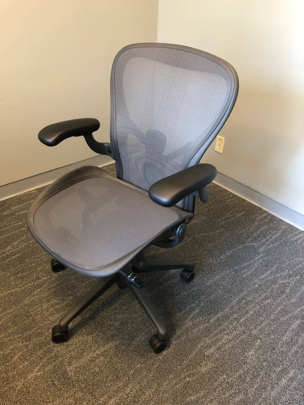 Front view of herman miller aeron office chair