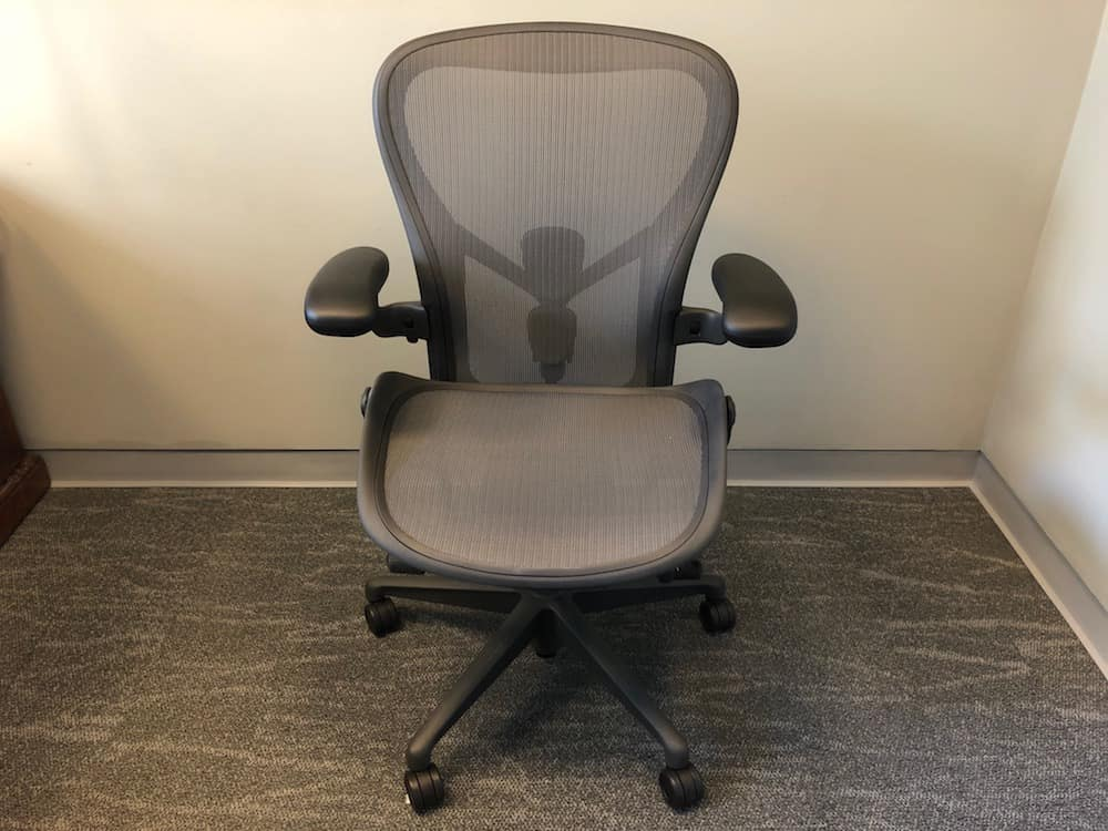 Full view of the Herman Miller Aeron chair