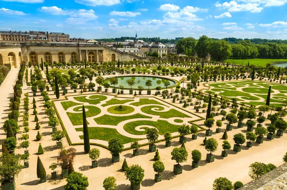 Gardens of the Versailles in Palace Versailles