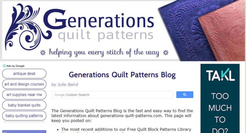 Generations Quilt Patterns for quilters