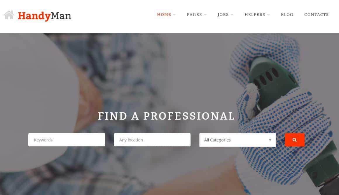 Handyman WordPress theme for Electrical Services