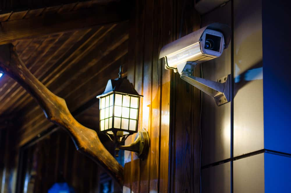 House with video security camera