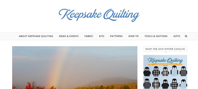 Keepsake Quiltingwebsite guide on quilting