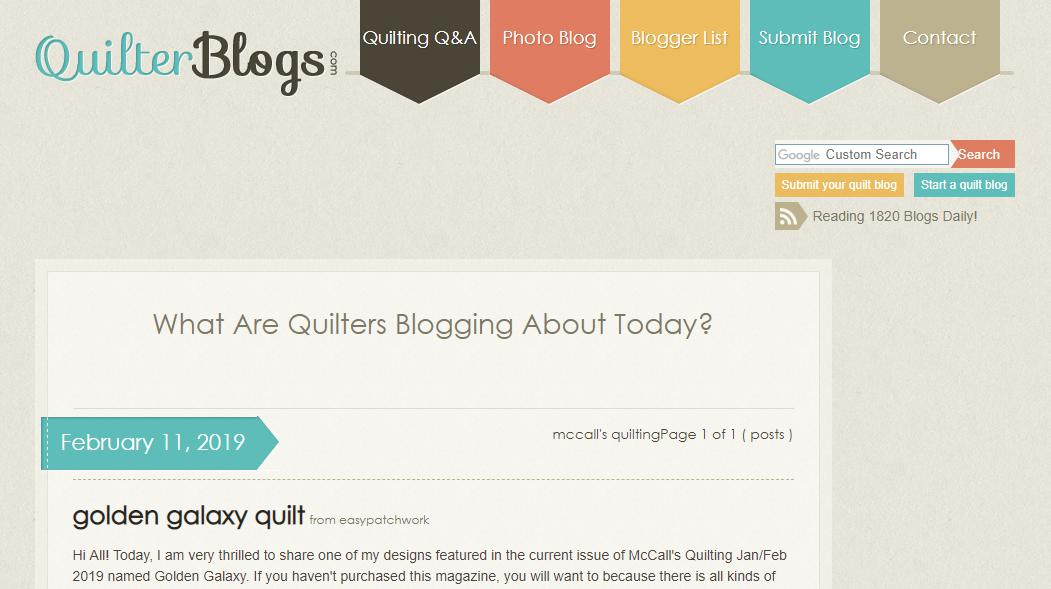 McCall's Quilting Blog for quilters