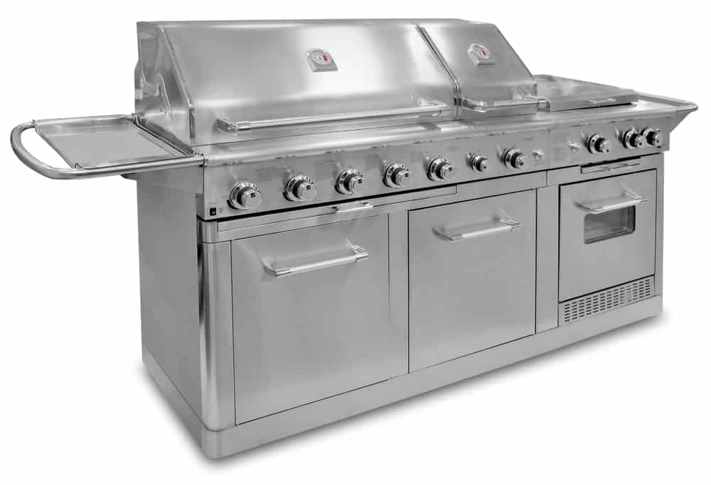 Massive silver natural gas grill