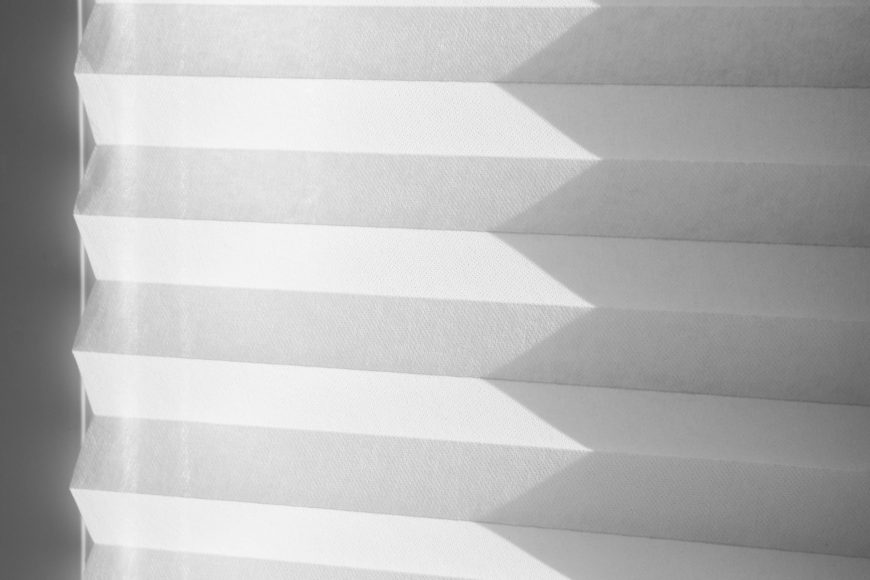Simple White Accordion Paper Blinds