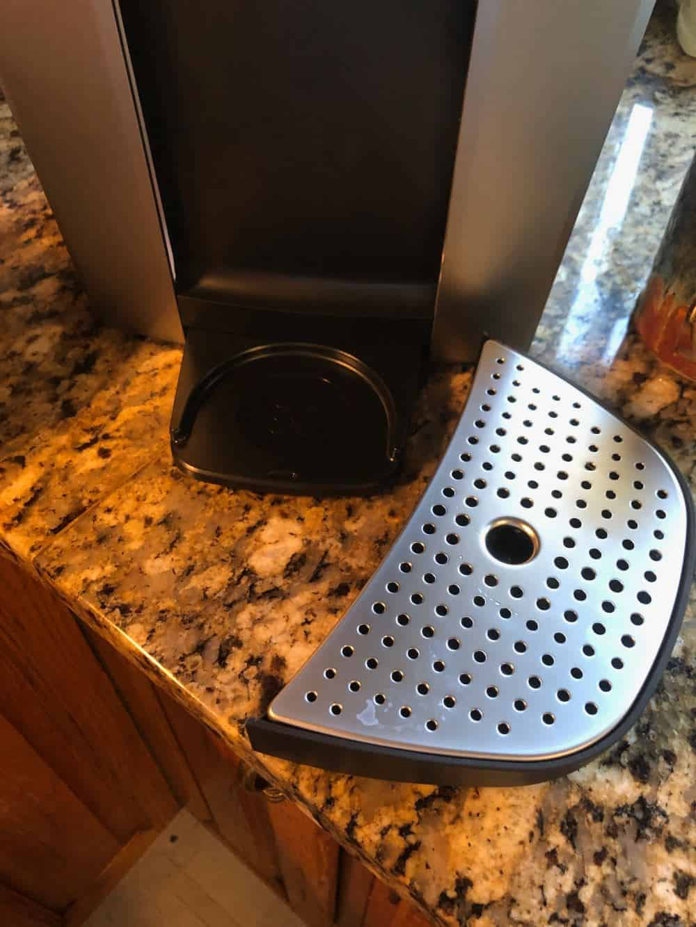 Photo of water spill catch removed from Keurig K-Elite coffee machine