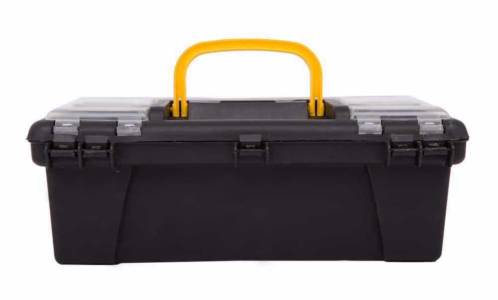 Black Plastic Tool Chest