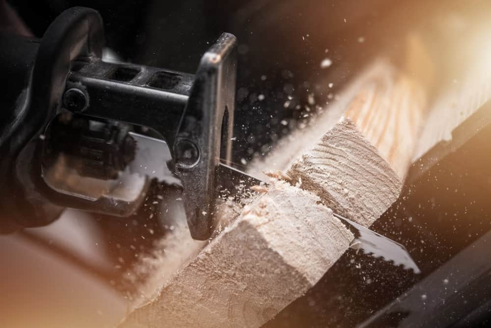 Close Up of a Reciprocating Saw