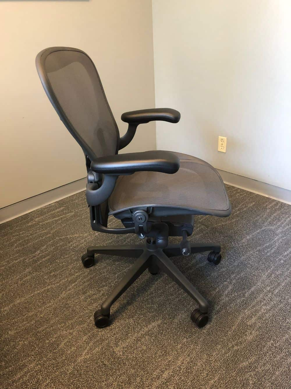 Side photo of aeron office chair