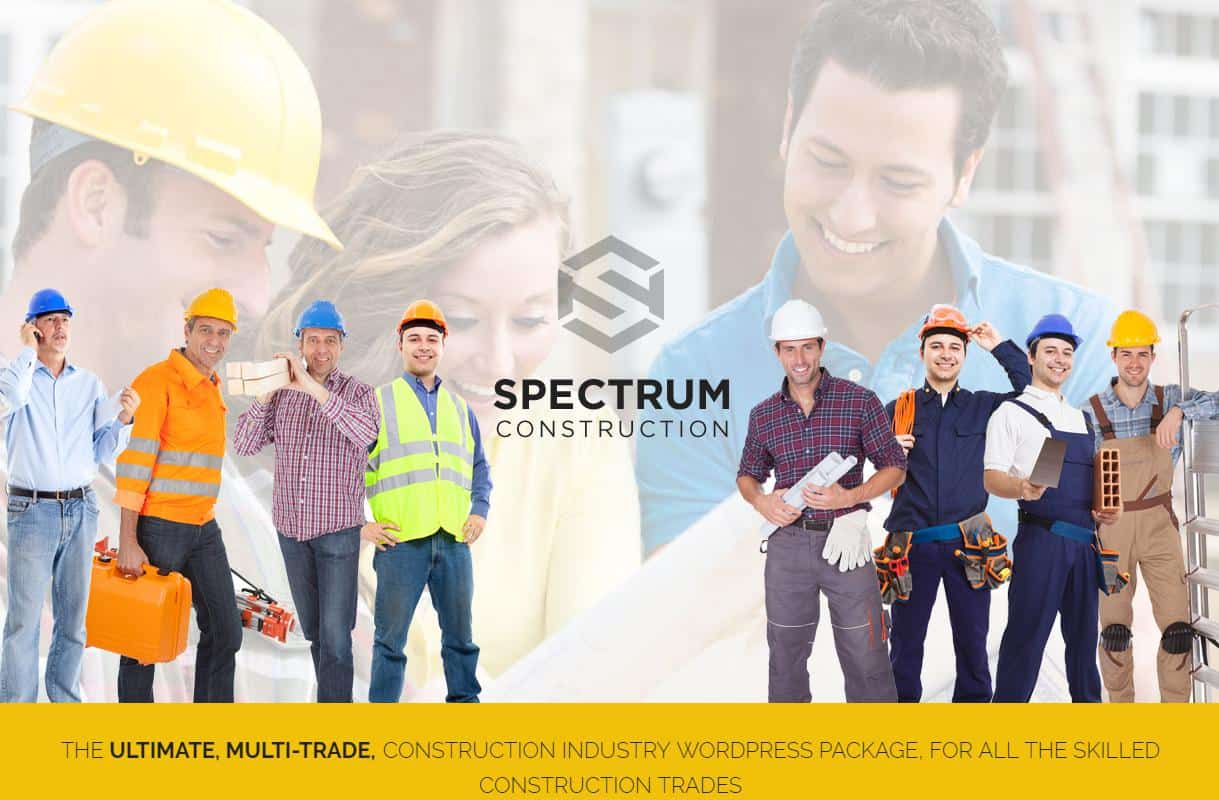 Spectrum Online Theme for Construction and Electrical Businesses
