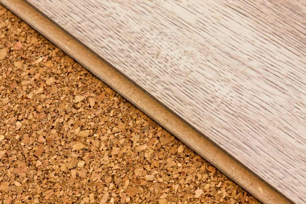 Different textures and patterns of cork flooring