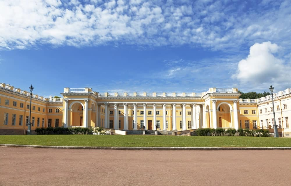 The Alexander Palace in Tsarskoye Selo