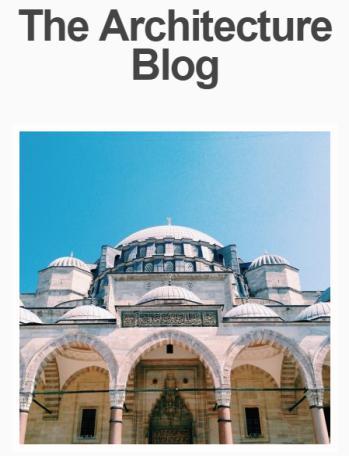 Architizer Website